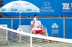 at ATP Challenger Zavarovalnica Sava Slovenia Open 2018, on August 6, 2018 in Sports centre, Portoroz/Portorose, Slovenia. Photo by Vid Ponikvar / Sportida