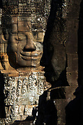 "Faces of the ""Buddha King"" Jayavarman VII on the Bayon, Angkor Thom, Siem Reap, Cambodia"