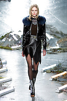 Anna Ewers (WOMEN) walks the runway wearing Rodarte Fall 2015 during Mercedes-Benz Fashion Week in New York on February 17, 2015