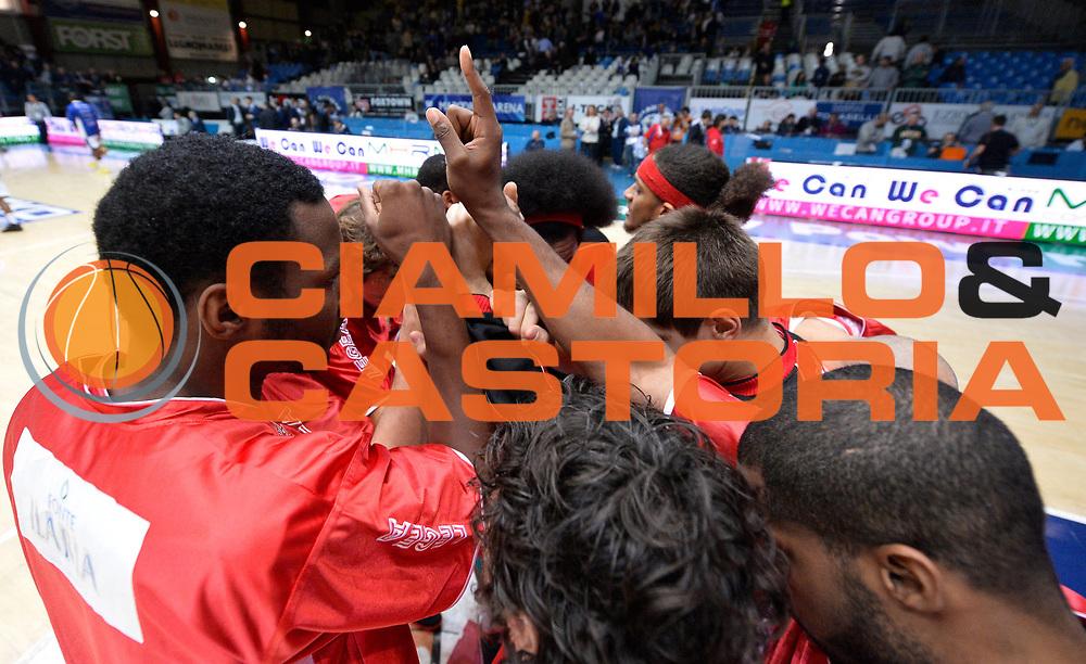 DESCRIZIONE : Cantu' campionato serie A 2013/14 Pallacanestro Cantu' Giorgio Tesi Group Pistoia <br /> GIOCATORE : team Pistoia<br /> CATEGORIA : pregame<br /> SQUADRA : Giorgio Tesi Group Pistoia<br /> EVENTO : Campionato serie A 2013/14<br /> GARA : Pallacanestro Cantu' Giorgio Tesi Group Pistoia<br /> DATA : 13/10/2013<br /> SPORT : Pallacanestro <br /> AUTORE : Agenzia Ciamillo-Castoria/R. Morgano<br /> Galleria : Lega Basket A 2013-2014  <br /> Fotonotizia : Cantu' campionato serie A 2013/14 Pallacanestro Cantu' Giorgio Tesi Group Pistoia <br /> Predefinita :