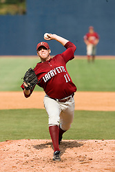 Lafayette Leopards LHP Matt Kamine (11) pitches against Virginia.  The Virginia Cavaliers defeated the Lafayette Leopards 5-1 at Davenport Field in Charlottesville, VA.  The game, held on June 1, 2007 was the first of the NCAA World Series Regional.
