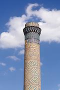 Uzbekistan, Samarqand.<br /> Bibi-Khanym Mosque. Minaret.