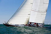 American Eagle, 12 Meter Class, racing in the Opera House Cup regatta.