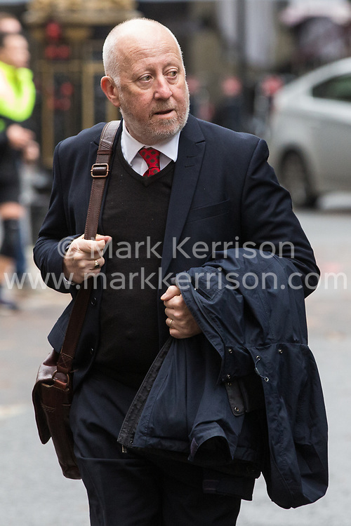 London, UK. 16 November, 2019. Andy McDonald, Shadow Transport Secretary, arrives at Labour's Clause V meeting. Credit: Mark Kerrison/Alamy Live News