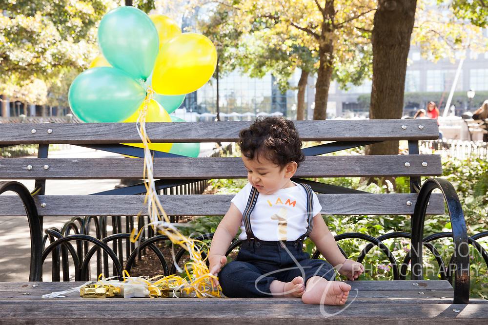 New York portrait photographer Sofia Negron 1st birthday cake smash