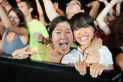 Photos of the crowd at the main stage during the first annual Pulse Fest of electronic dance music downtown at the Old Rock House Pavillion in St. Louis on June 9, 2012.