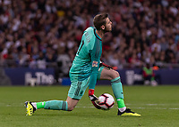 Football - 2018 / 2019 UEFA Nations League A - Group Four: England vs. Spain<br /> <br /> David de Gea (Spain) rolls the ball out at Wembley Stadium.<br /> <br /> COLORSPORT/DANIEL BEARHAM