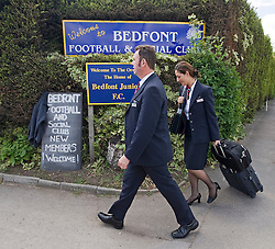 © licensed to London News Pictures. 12/05/2011. Bedfont, UK.  BA cabin crew and Unite Union members at a union meeting at Bedfont Football club near Heathrow today (12/05/2011).  British Airways and the Unite union have reached an agreement to settle their long-running industrial dispute. A mass meeting of Unite members voted almost unanimously to put a new deal to a ballot of around 7,000 workers, with a recommendation to accept. See special instructions for usage rates. Photo credit should read Ben Cawthra/LNP