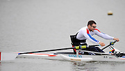 Caversham, GREAT BRITAIN,   GB, Men's,  Tom AGGAR, GBR AM1X,, GB Rowing,  Adaptive Rowing Media Day [athletes training for the Beijing Paralympics] [Mandatory Credit, Peter Spurrier / Intersport-images Rowing course: GB Rowing Training Complex, Redgrave Pinsent Lake, Caversham, Reading