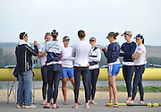 Caversham. United Kingdom; Women's eight's group, with coach, Robin WILLIAMS, early morning training session before the GBR Rowing, 2010 World Championship Team Announcement at the GB rowing Training Base. Nr Reading Berks on Tuesday,  21/09/2010[Mandatory Credit Peter Spurrier/ Intersport Images],