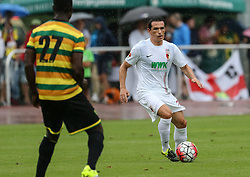 26.07.2015, Prien am Chiemsee, GER, Testspiel, FC Augsburg vs Norwich City, im Bild Pjotr Trochowski (FC Augsburg #36) spielt den Ball, // during the International Friendly Football Match between FC Augsburg and Norwich City in Prien am Chiemsee, Germany on 2015/07/26. EXPA Pictures © 2015, PhotoCredit: EXPA/ Eibner-Pressefoto/ Krieger<br /> <br /> *****ATTENTION - OUT of GER*****