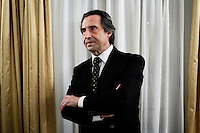 "ROME, ITALY - 12 MARCH 2013: Music director Riccardo Muti, 71, poses in his dressing room during the second interval of  ""I Due Foscari"", an opera in three acts by Giuseppe Verdi, at the Teatro dell'Opera in Rome, Italy, on March 12, 2013... Riccardo Muti, Music Director of the Chicago Symphony Orchestra, has accepted the title of Honorary Director for Life of the Teatro dell'Opera in Rome...Gianni Cipriano for The New York Times"