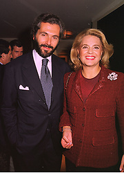 MR CESARE CANAVESIO and PRINCESS IRA VON FURSTENBERG, at a dinner in London on 30th September 1998.MKK 69