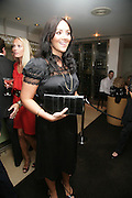 Martine McCutcheon, The Eve Appeal Dinner, Nobu London,  Dinner in aid of Eve Appeal, Gynaecology Cancer Research Fund, 3 September 2007. -DO NOT ARCHIVE-© Copyright Photograph by Dafydd Jones. 248 Clapham Rd. London SW9 0PZ. Tel 0207 820 0771. www.dafjones.com.