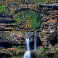 Upper Falls at Old Mans Cave in Hocking Hills Ohio