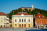Slovénie, Ljubljana, capitale de la Slovénie, la Place de l'Etoile // Slovenia, Ljubljana, Kongresni Square
