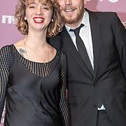 NLD/Amsterdam/20180213 - Edison Pop Awards 2018, Jacqueline Govaert en partner Ivo Maissan