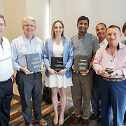 Steve Lawrence and Christi Pedra with Cardinal Health RBC 2017 Ken Wurster Award Nominees: Winner John Forbes (Medicap Pharmacy), Jaclyn Stephens (Cheyenne Professional Drug),  Ritesh Shah (DrugSmart Pharmacy) and Pedro Vanga Feliciano (Super Farmacia Vanga). Photo by Alabastro Photography.