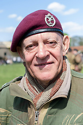 NWW2A Chairman Nick Richards portrays a member of the  22nd Independent Company 6th Airborne Division<br /> <br />   04 May 2015<br />   Image © Paul David Drabble <br />   www.pauldaviddrabble.co.uk