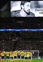 Football - 2017 / 2018 UEFA Champions League - Round of Sixteen, Second Leg: Tottenham Hotspur (2) vs. Juventus (2)<br /> <br /> A minute's silence for Italian footballer Davide Astori before kick off , at Wembley Stadium.<br /> <br /> COLORSPORT/ANDREW COWIE