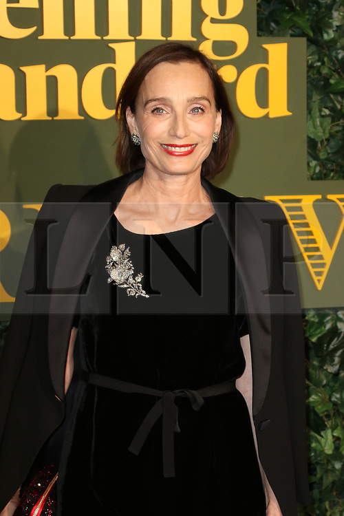© Licensed to London News Pictures. 13/11/2016. London, UK, Kristin Scott Thomas, Evening Standard Theatre Awards, Photo credit: Richard Goldschmidt/LNP