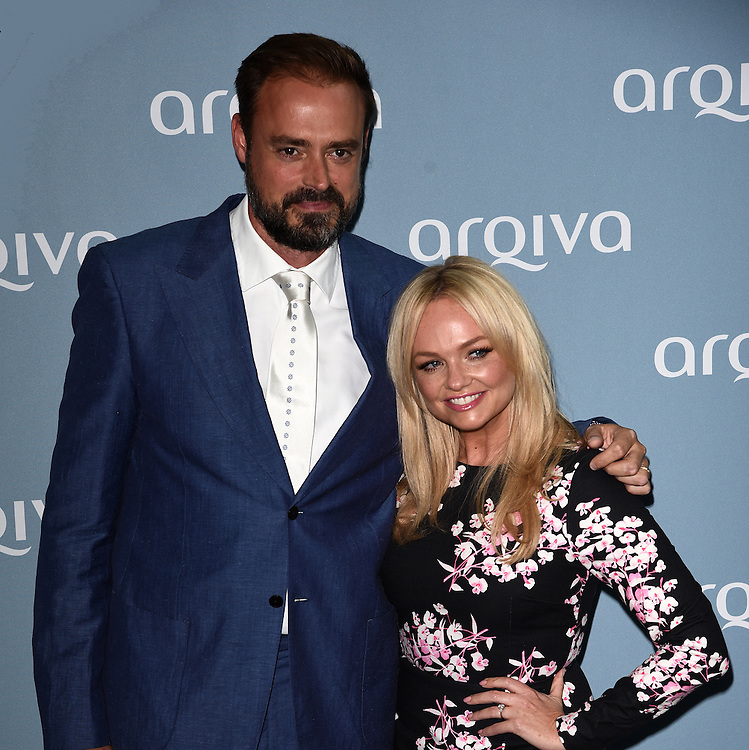 Jamie Theakston and Emma Bunton attend The Arqiva Commercial Radio Awards at The Round House, Chalk farm Road, London on Wednesday 8 July 2015