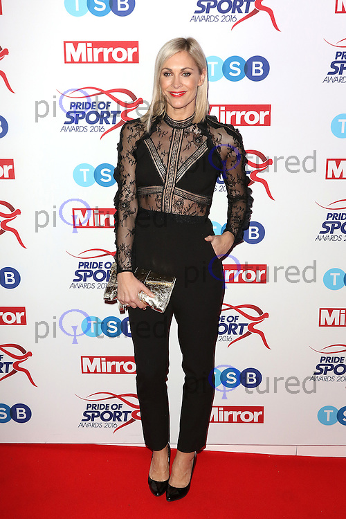 Jenni Falconer, Pride of Sport Awards, Grosvenor House Hotel, London UK, 07 December 2016, Photo by Richard Goldschmidt