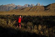 Trail running<br /> Jackson Hole, Wyoming