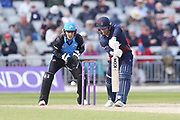 Lancashires Josh Bohannon  during the Royal London 1 Day Cup match between Lancashire County Cricket Club and Worcestershire County Cricket Club at the Emirates, Old Trafford, Manchester, United Kingdom on 17 April 2019.