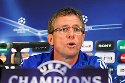 03.05.2011, Old Trafford, Manchester, ENG, UEFA CL, Halbfinale Rueckspiel, Manchester United (ENG) vs Schalke 04 (GER), Abschlusstraining, im Bild:  Ralf Rangnick (Trainer Schalke 04)  // during the UEFA CL, Semi Final second leg, Manchester United (ENG) vs Schalke 04 (GER), at the Old Trafford, Manchester, Training, 03/05/2011 EXPA Pictures © 2011, PhotoCredit: EXPA/ nph/  Mueller *** Local Caption ***       ****** out of GER / SWE / CRO  / BEL ******