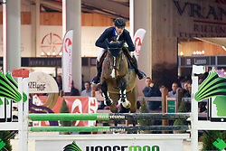 Vermeiren Jan, BEL, No Doubt van het Vlierhof<br /> Pavo hengstencompetitie 5 jaar<br /> Hengstenkeuring BWP - Lier 2018<br /> © Dirk Caremans<br /> 20/01/2018