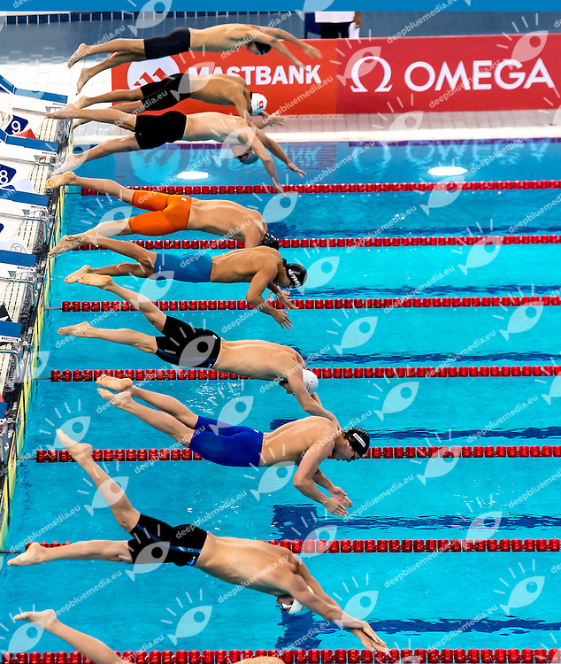 Yahen TSURKIN BLR (lane 3)<br /> 50 Freestyle men <br /> FINA Mastbank Swimming World Cup 2014<br /> Dubai, UAE  2014  Aug.31 th - Sept.1st<br /> Day1 - Sept. 1st - Heats<br /> Photo G. Scala/Deepbluemedia