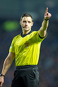 Referee Steven McLean during the Ladbrokes Scottish Premiership match between Rangers and Aberdeen at Ibrox, Glasgow, Scotland on 5 December 2018.