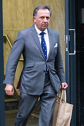 XX leaves an employment Tribunal where he is contesting his dismissal from an asset management firm that looked after the £5.5bn London portfolio of the Abu Dhabi royal family. London, October 11 2018.