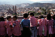 Sixty miles southwest of Mexico City, schoolchildren in the town of Taxco celebrate Jumil Day, a festival in which crowds gather for the ritual harvesting and eating of jumiles (a type of stink bug, Euchistus taxcoensis). Taxco, Mexico. (Man Eating Bugs page 106,107)