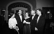Rose of Tralee Ball at the Gresham Hotel. The Dublin Committee: Kit Browne; Paddy Kennedy; P. Kennedy; Percy Begley; and John Delaney..26.04.1967