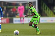 Forest Green Rovers Reece Brown(10) on the ball during the EFL Sky Bet League 2 match between Forest Green Rovers and Macclesfield Town at the New Lawn, Forest Green, United Kingdom on 13 April 2019.