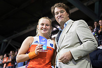 AMSTELVEEN - Laurien Leurink (Ned) maakte het mooiste doelpunt van het toernooi .  na de damesfinale Nederland-Belgie bij de Rabo EuroHockey Championships 2017. COPYRIGHT KOEN SUYK