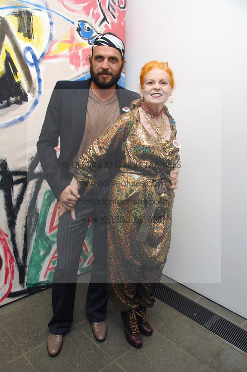 DAME VIVIENNE WESTWOOD and her husband MR ANDREAS KRONTHALER at a party to celebrate the publication of Vivienne Westwood's Opus held at The Serpentine Gallery, Kensington Gardens, London W2 on 12th February 2008.<br /><br />NON EXCLUSIVE - WORLD RIGHTS
