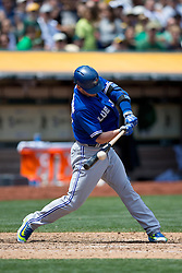 OAKLAND, CA - JULY 23:  Josh Donaldson #20 of the Toronto Blue Jays at bat against the Oakland Athletics during the fifth inning at O.co Coliseum on July 23, 2015 in Oakland, California. The Toronto Blue Jays defeated the Oakland Athletics 5-2. (Photo by Jason O. Watson/Getty Images) *** Local Caption *** Josh Donaldson