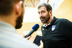 Veselin Vujovic head coach of Slovenia during friendly match between Slovenia and Montenegro in Skofja Loka, Slovenia on 8th of June, 2017 .Photo by Grega Valancic / Sportida