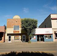 A street in downtown Estacada, Oregon