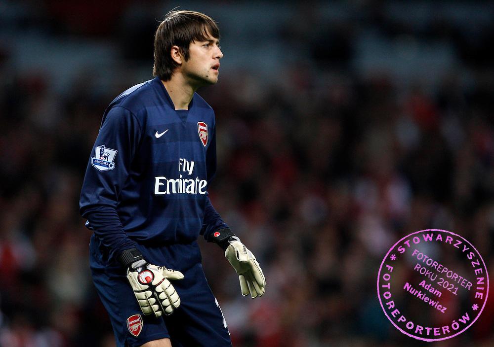 Photo: Richard Lane/Sportsbeat Images..Arsenal v Newcastle United. Carling Cup. 25/09/2007. .Arsenal goalkeeper, Lukasz Fabianski.FOT. SBI / WROFOTO.*** POLAND ONLY !!! ***