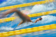 Ashgabat, Turkmenistan - 2017 September 24: Thi Anh Vien Nguyen from Vietnam competes in Women's 200m Freestyle Heat 2 while Short Course Swimming competition during 2017 Ashgabat 5th Asian Indoor &amp; Martial Arts Games at Aquatics Centre (AQC) at Ashgabat Olympic Complex on September 24, 2017 in Ashgabat, Turkmenistan.<br /> <br /> Photo by &copy; Adam Nurkiewicz / Laurel Photo Services