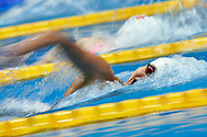 Ashgabat, Turkmenistan - 2017 September 24: Thi Anh Vien Nguyen from Vietnam competes in Women's 200m Freestyle Heat 2 while Short Course Swimming competition during 2017 Ashgabat 5th Asian Indoor & Martial Arts Games at Aquatics Centre (AQC) at Ashgabat Olympic Complex on September 24, 2017 in Ashgabat, Turkmenistan.<br /> <br /> Photo by © Adam Nurkiewicz / Laurel Photo Services