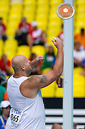 Piotr Malachowski from Poland competes in men's discus throw qualification during the 14th IAAF World Athletics Championships at the Luzhniki stadium in Moscow on August 12, 2013.<br /> <br /> Russian Federation, Moscow, August 12, 2013<br /> <br /> Picture also available in RAW (NEF) or TIFF format on special request.<br /> <br /> For editorial use only. Any commercial or promotional use requires permission.<br /> <br /> Mandatory credit:<br /> Photo by © Adam Nurkiewicz / Mediasport