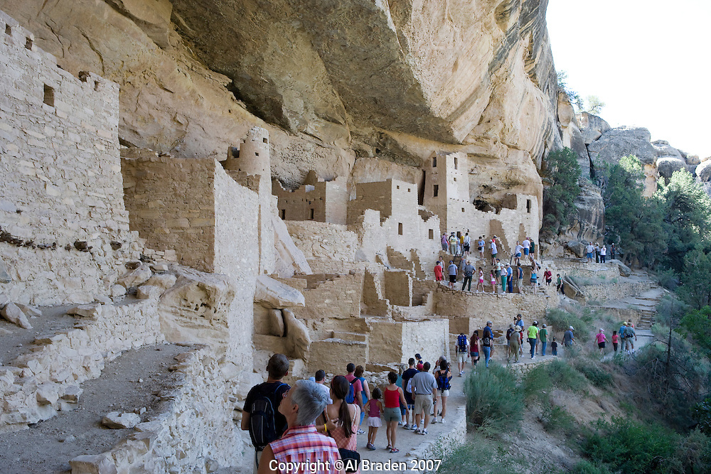 Cliff Palace at Mesa Verde National Park, Colorado.