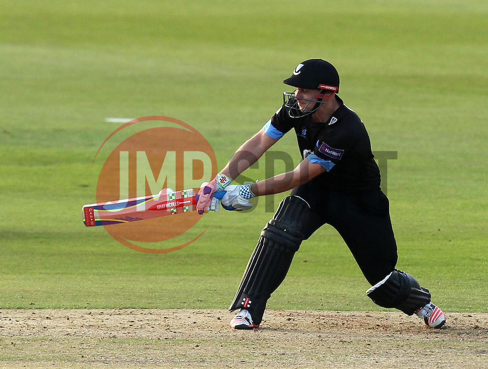 Sussex's Luke Wright switch hits - Photo mandatory by-line: Robbie Stephenson/JMP - Mobile: 07966 386802 - 26/06/2015 - SPORT - Cricket - Bristol - The County Ground - Gloucestershire v Sussex - Natwest T20 Blast