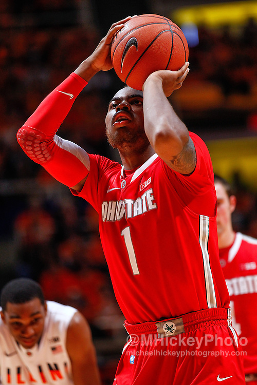 CHAMPAIGN, IL - JANUARY 05: Deshaun Thomas #1 of the Ohio State Buckeyes is seen during the game against the Illinois Fighting Illini at Assembly Hall on January 5, 2013 in Champaign, Illinois. Ilinois defeated Ohio State 74-55. (Photo by Michael Hickey/Getty Images) *** Local Caption *** Deshaun Thomas