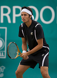 LIVERPOOL, ENGLAND - Friday, June 13, 2008: Paul Capdeville (CHI) in action during the Men's Singles on Day Four of the Tradition-ICAP Liverpool International Tennis Tournament at Calderstones Park. (Photo by David Rawcliffe/Propaganda)